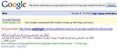 Google Index Page