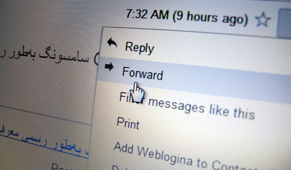 Forwarding Email